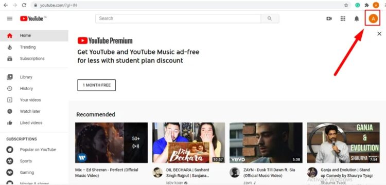 Change Language on YouTube