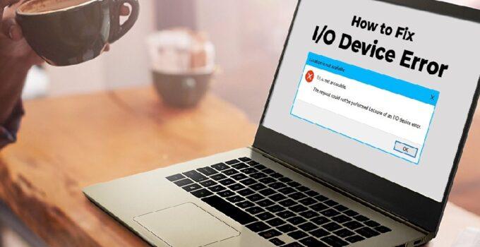 Hard Disk I/O Device Error