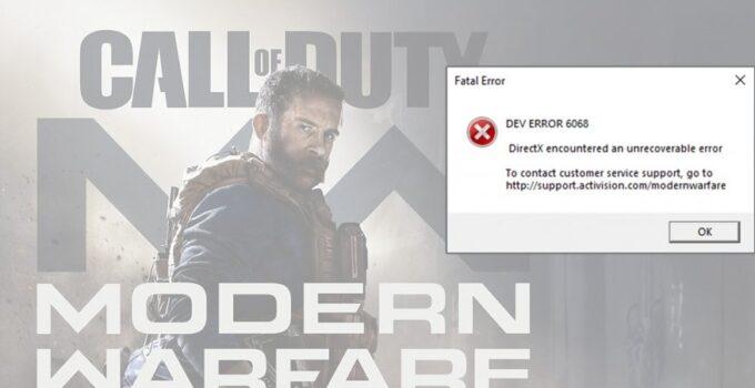 Dev Error 6065
