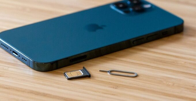 Open SIM Card Slot on iPhone