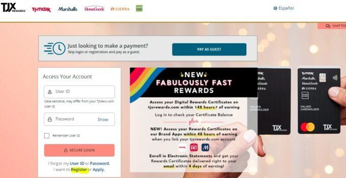 Tjmaxx Credit Card Account Login